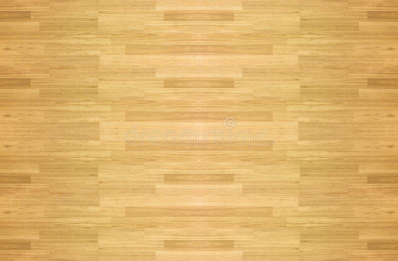 Assoalho de madeira do campo de básquete do bordo da folhosa do parquet do assoalho visto foto de stock