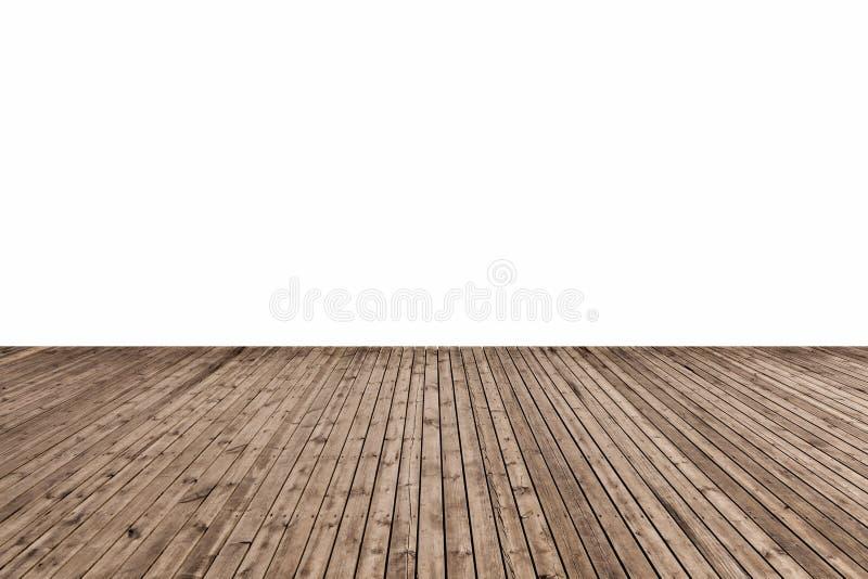 Assoalho de madeira isolado foto de stock