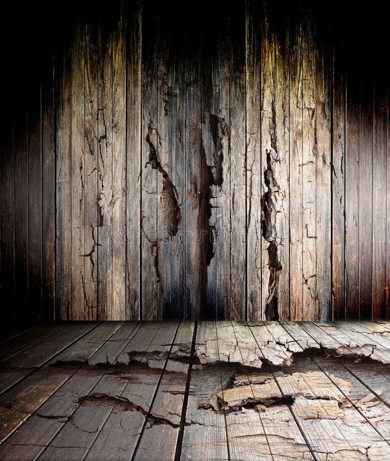 Assoalho de madeira velho imagens de stock