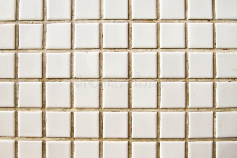 Assoalho de mosaico branco do vintage fotos de stock royalty free