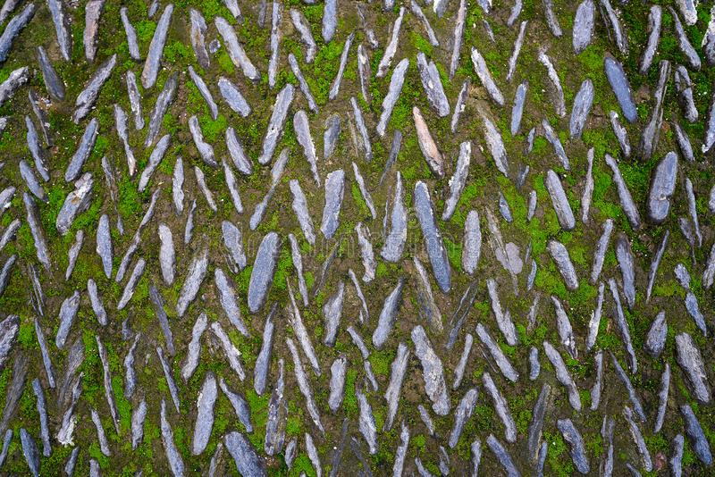 Assoalho de mosaico de pedra em Alhambra Granada fotos de stock