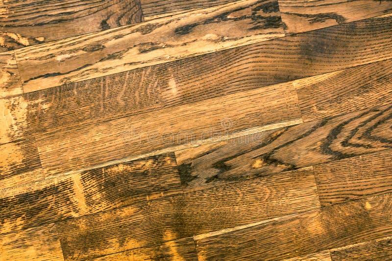 Assoalho de parquet velho do carvalho imagem de stock