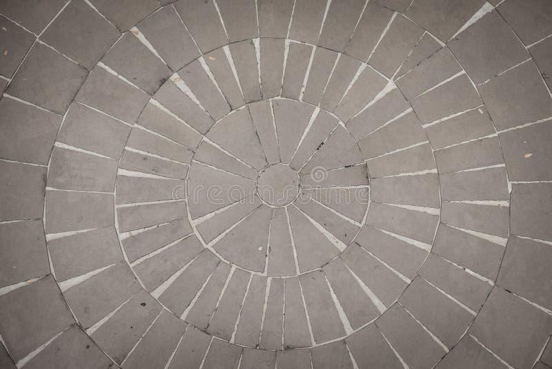 Assoalho de pedra em um teste padrão circular foto de stock royalty free