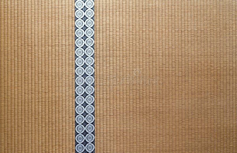 Assoalho de Tatami japonês foto de stock