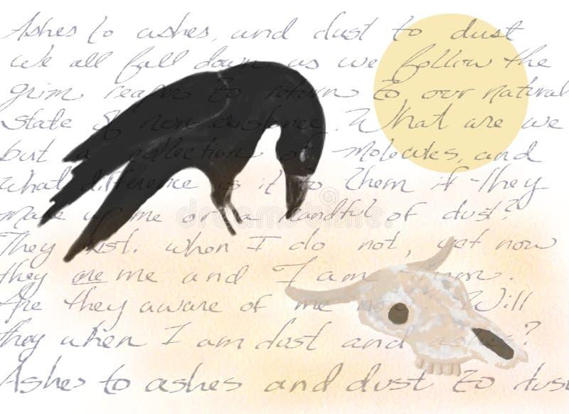 Assoalho do deserto com escrita ilustração royalty free