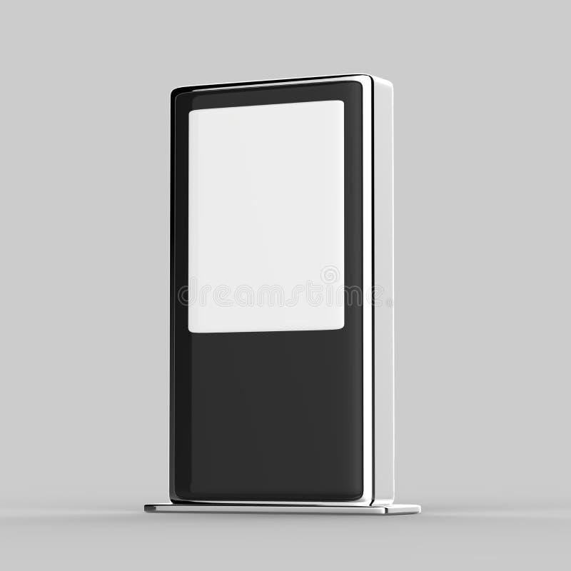 Assoalho do toque da rede de WiFi multi que está o monitor digital do toque da exposição do signage da exposição do anúncio do LC ilustração stock