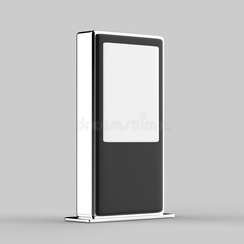 Assoalho do toque da rede de WiFi multi que está o monitor digital do toque da exposição do signage da exposição do anúncio do LC ilustração do vetor