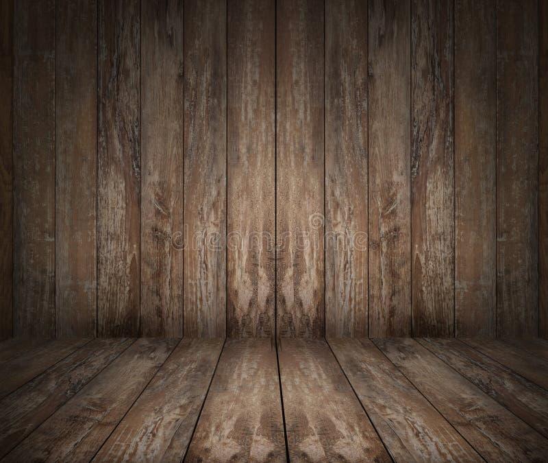 Assoalho e parede de madeira imagens de stock
