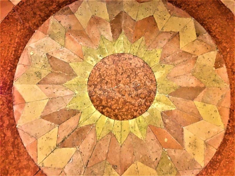 Assoalho e projeto geométrico, flor e imaginação fotografia de stock royalty free