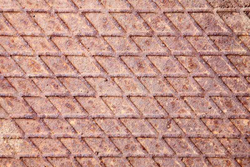 Assoalho industrial oxidado do metal fotografia de stock
