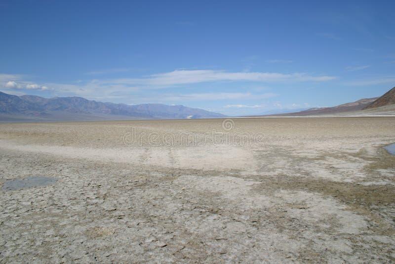 Assoalho Parched do deserto de Death Valley imagem de stock