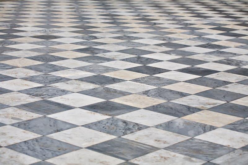 Assoalho quadrado de mármore foto de stock