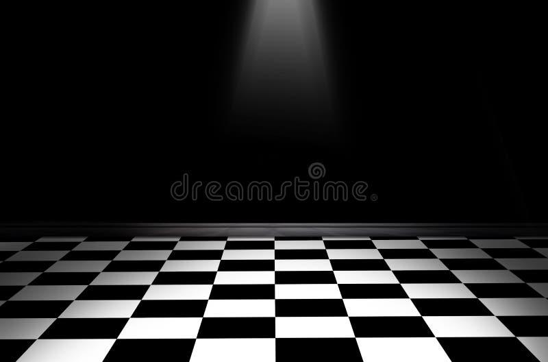 Assoalho quadriculado preto e branco imagem de stock