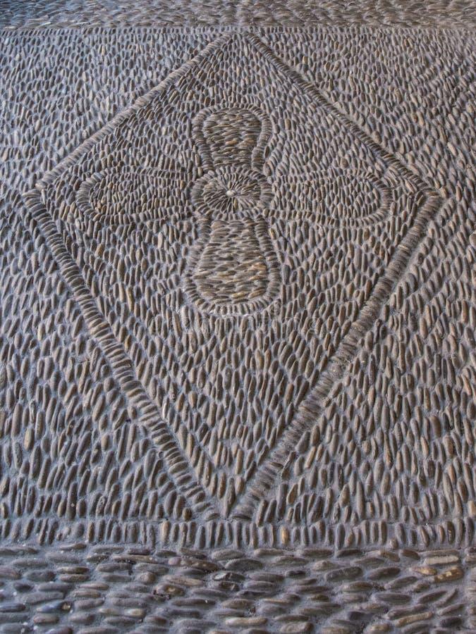 Assoalho Roman Mosaic foto de stock