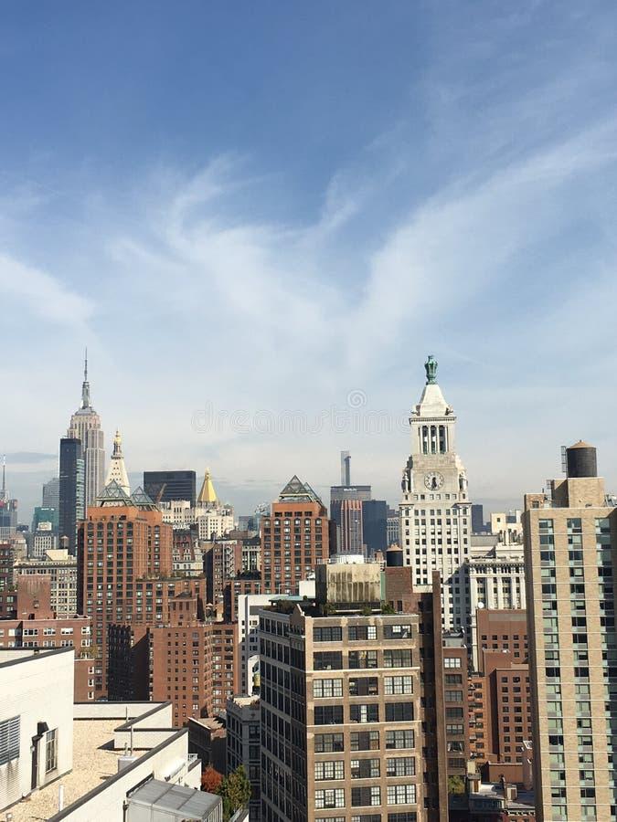 Assoalhos da vista panorâmica 40 de NYC altos imagens de stock royalty free