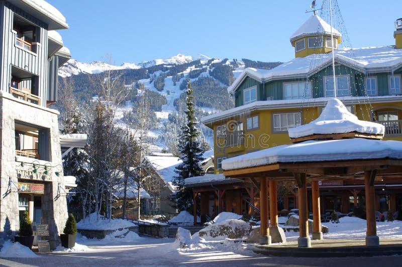 Assobiador da estância de esqui imagens de stock royalty free