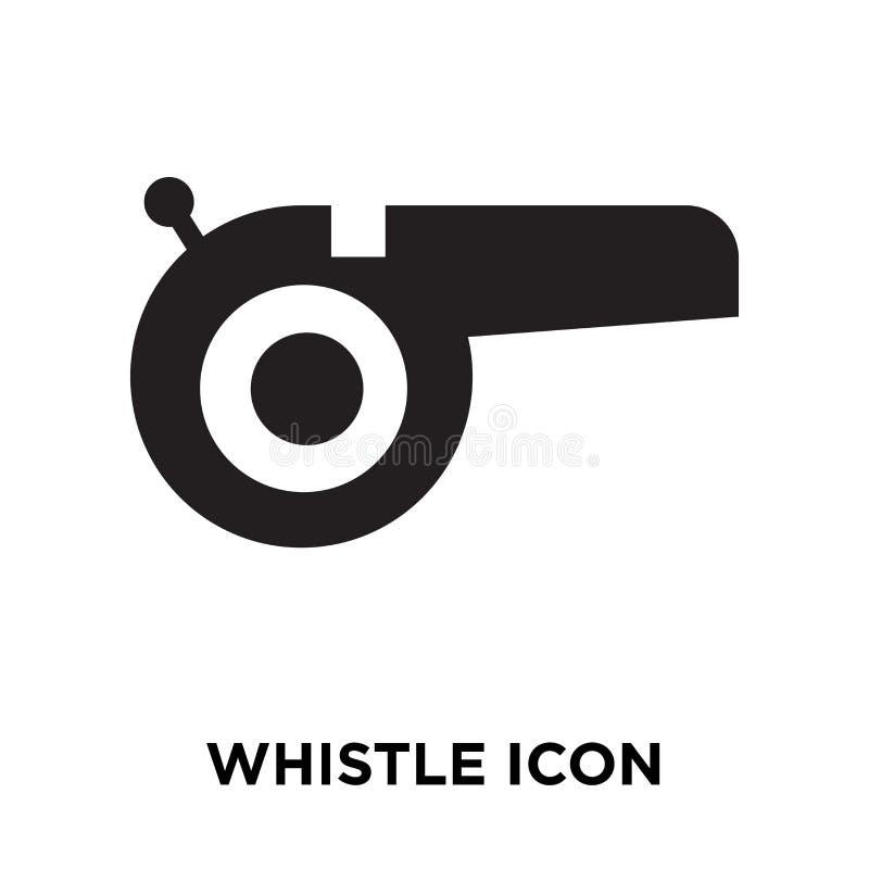 Assobie o vetor do ícone isolado no fundo branco, conceito o do logotipo ilustração royalty free