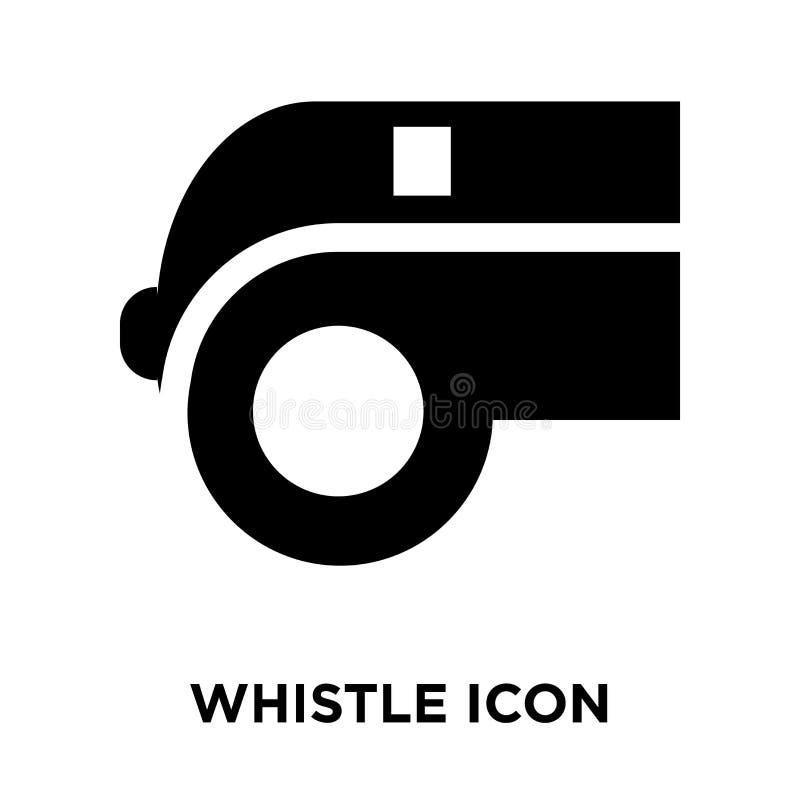 Assobie o vetor do ícone isolado no fundo branco, conceito o do logotipo ilustração do vetor