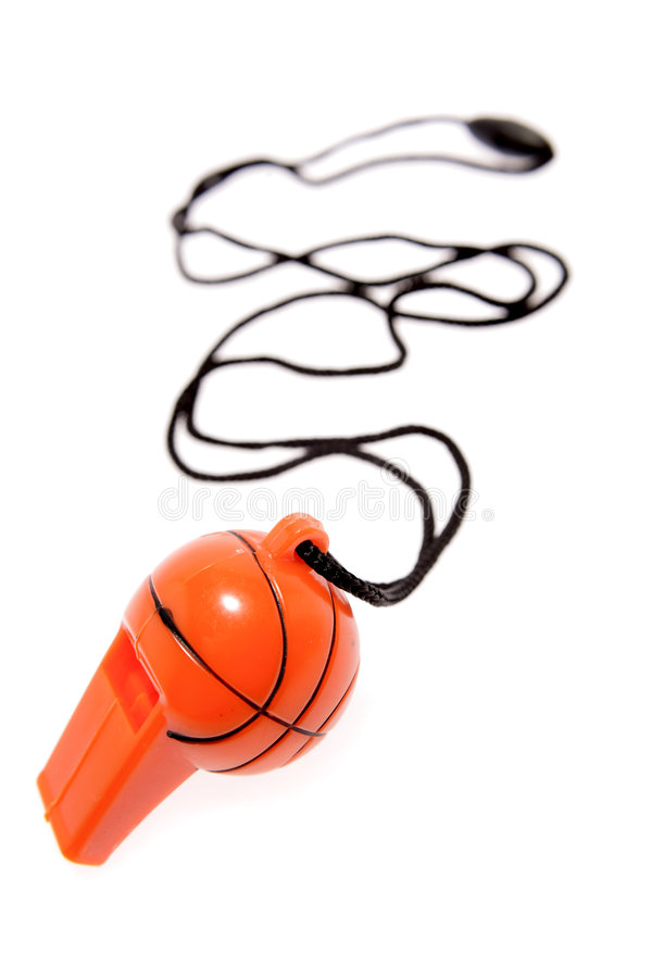 Assobio do basquetebol foto de stock royalty free