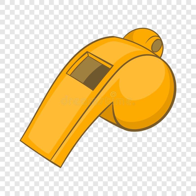 Assobio do ?cone do ?rbitro, estilo dos desenhos animados ilustração do vetor