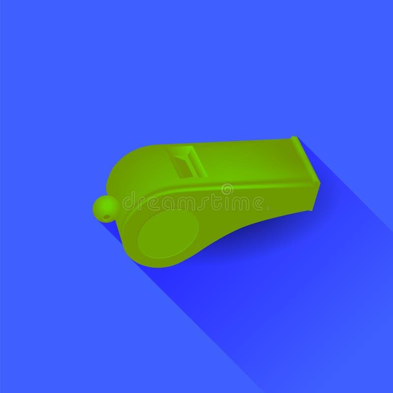 Assobio verde ilustração do vetor