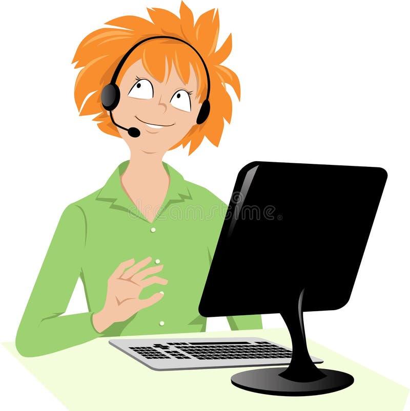 Associé de service à la clientèle illustration de vecteur