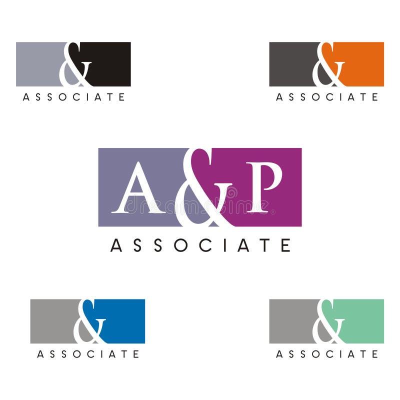 Associés Logo Template avec l'esperluète illustration stock