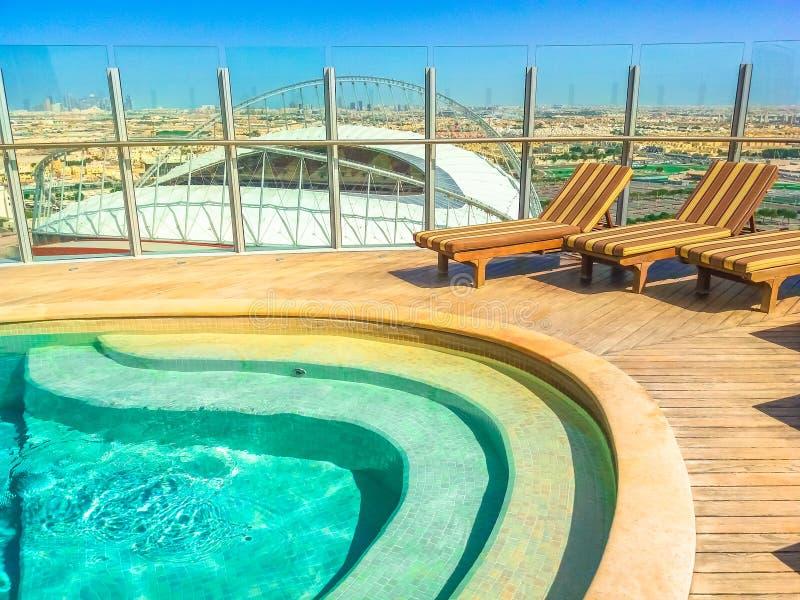 A associação aérea de Doha da tocha imagens de stock royalty free