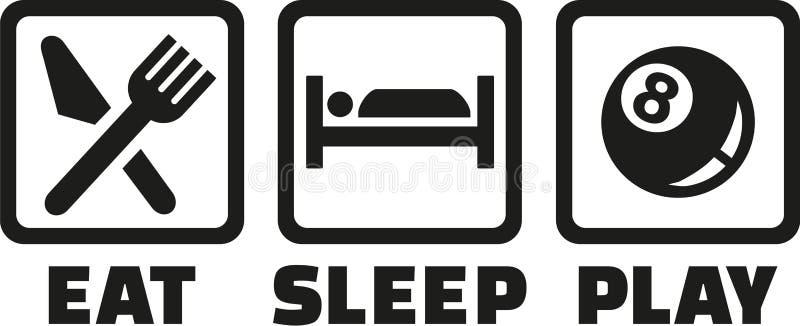 Associação - coma o jogo do sono ilustração royalty free