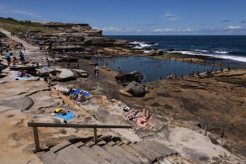 Associação da rocha do oceano de Mahon, Maroubra imagem de stock royalty free