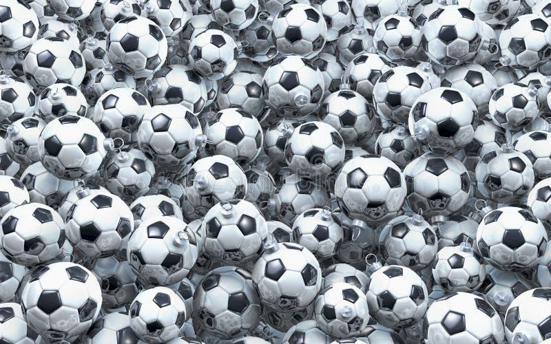 Associação de bolas do Natal do futebol ilustração royalty free