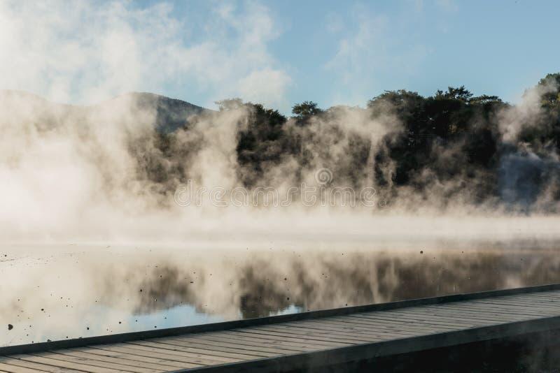 Associação de Champagne no país das maravilhas térmico de Wai-O-Tapu, Rotorua, Nova Zelândia imagens de stock royalty free
