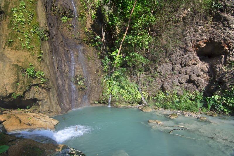 Associação e cachoeira tropicais em Chiapas imagem de stock