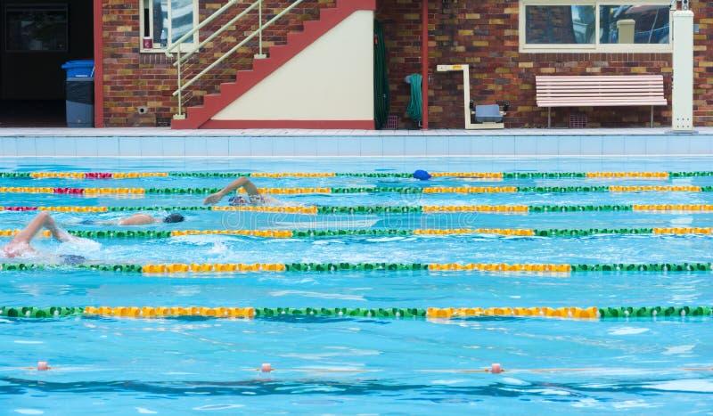 Associação exterior nadadora dos regaços foto de stock