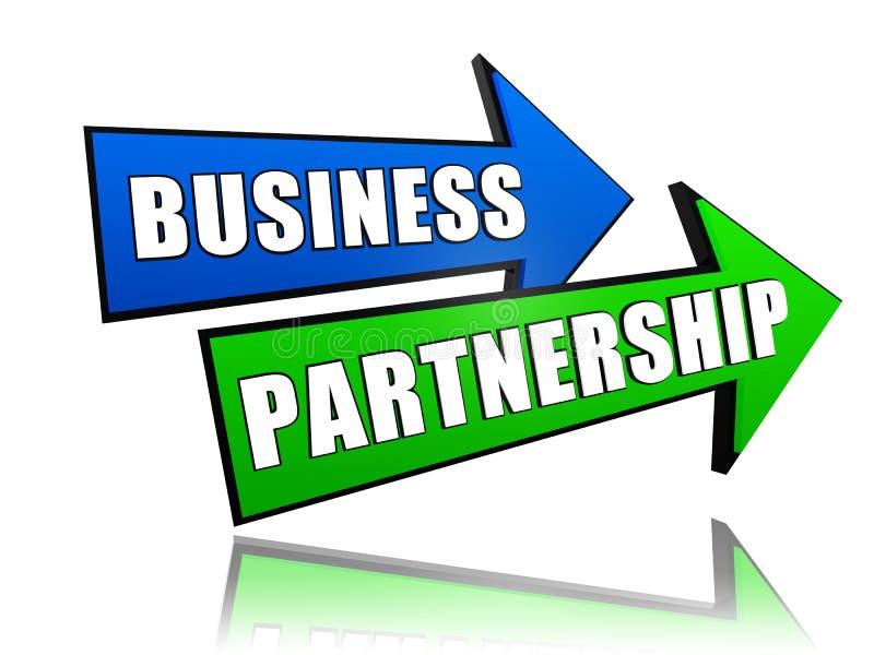 Association d'affaires dans les flèches illustration libre de droits