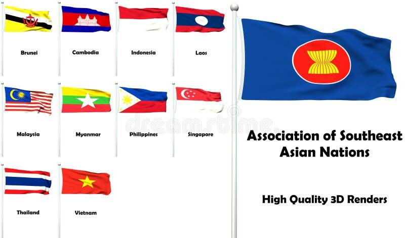 Association des nations asiatiques du sud-est illustration de vecteur