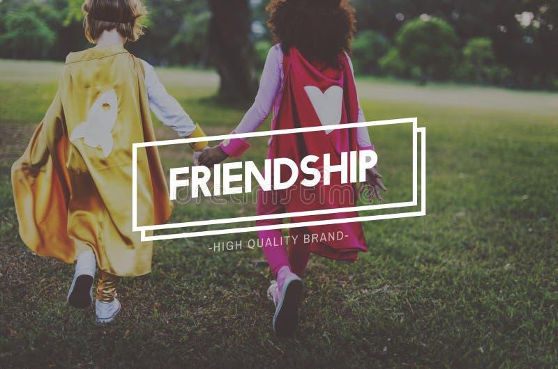 Associazione Buddy Concept di unità di amicizia degli amici fotografie stock