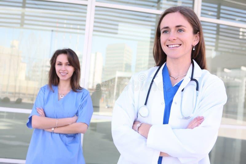 Associazione del gruppo di medici delle donne fotografia stock libera da diritti