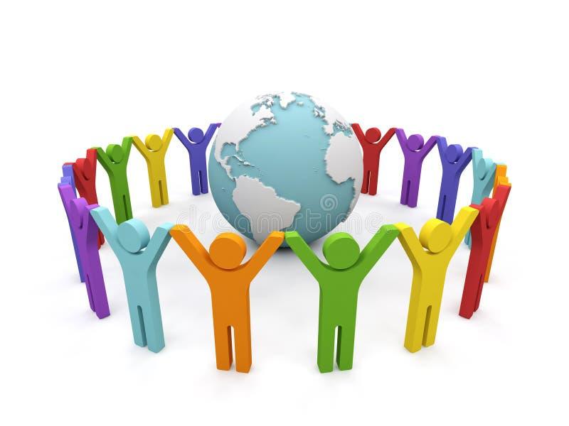 Associazione del mondo. illustrazione vettoriale