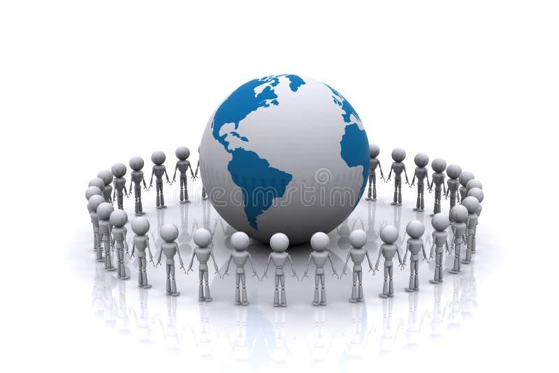 Associazione del mondo. royalty illustrazione gratis
