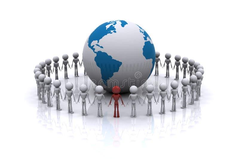 Associazione del mondo. illustrazione di stock