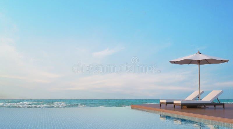 Associe o terraço com imagem da rendição da opinião 3d do mar