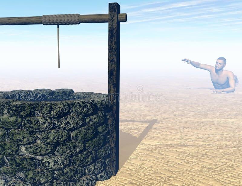 Assoiffé à la mort - 3D rendent illustration stock