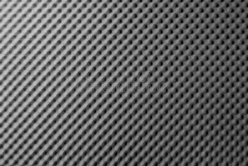Assorbimento grigio nero acustico della schiuma del fono assorbente fotografia stock