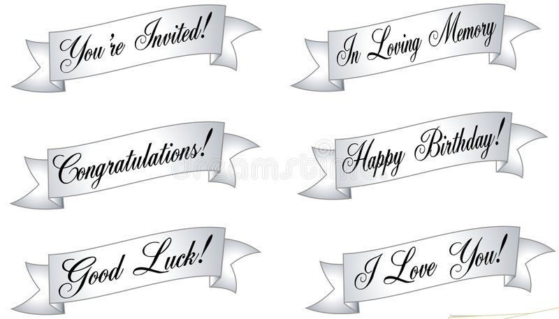 Assorted Banners and Ribbons vector illustration