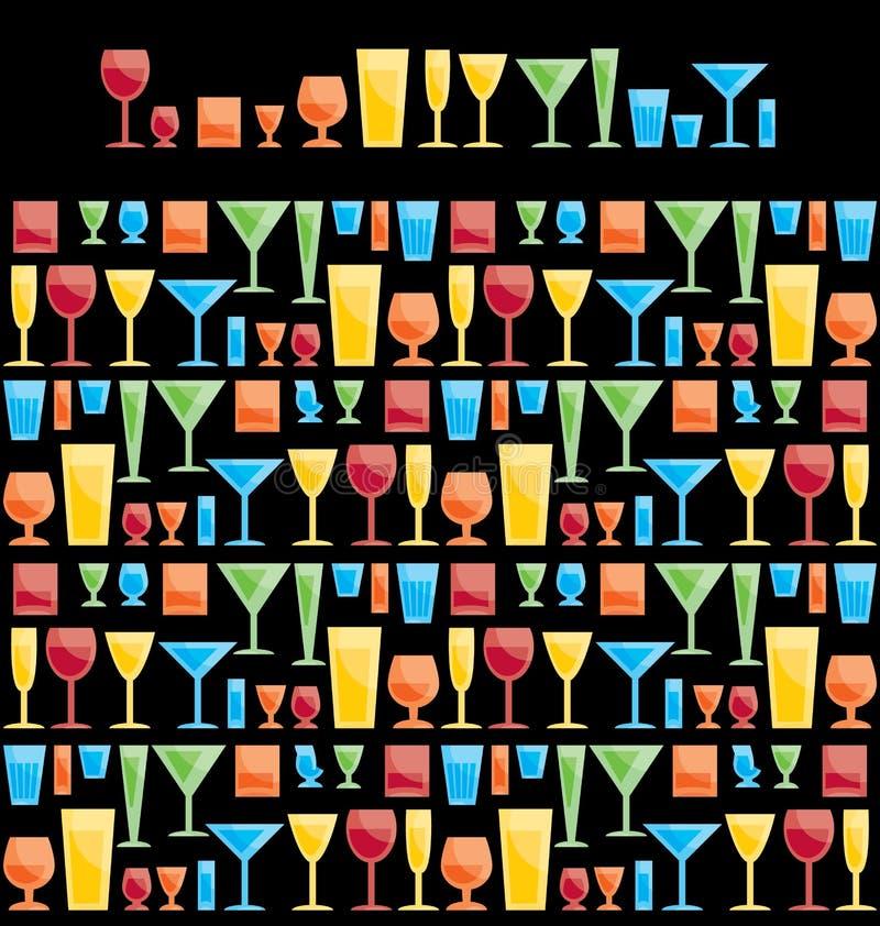Download Assorted bar glasses stock vector. Image of aperitif - 23445780