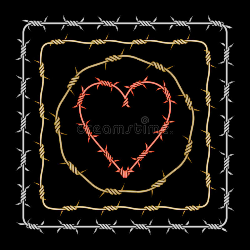 Download Assorted Barbed Heart Circle Square Stock Photography - Image: 36129732