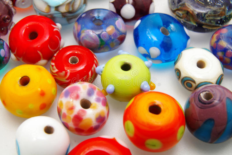 Assorted beads royalty free stock photography