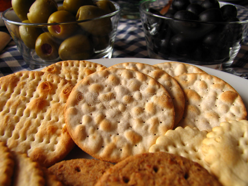 Download Assorted Biscuits And Olives Stock Photos - Image: 1259143