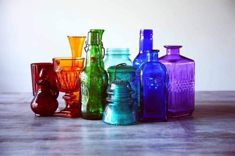 Assorted, Bottles, Bright royalty free stock photo